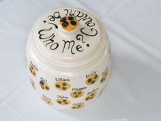 Our cookie jar for 2013 auction. Winning bid was $225! #alpacaartkenosha #fundraisingideas