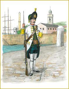 GENOA  THE LIGURIAN REGIMENT  Grenadier  1746  By Bruce Bassett-Powell