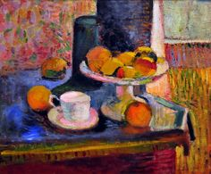 Henri Matisse - Still Life Compote, Apples, and Oranges, 1899