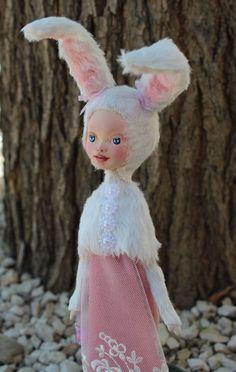 Alice, art doll, rabbit doll, natural resin