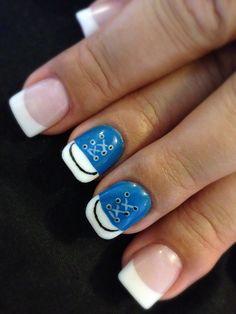 Tennis shoe nail art