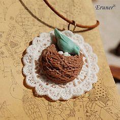 eruner® handmade retro colar de pingente de mulheres do vintage, ninho colar de pássaro, charme pássaro& cadeia – BRL R$ 12,77
