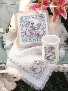 Cross-Stitch - Special Occasions - Spring Cross-stitch Patterns - Bunnies on Parade - #FX00132