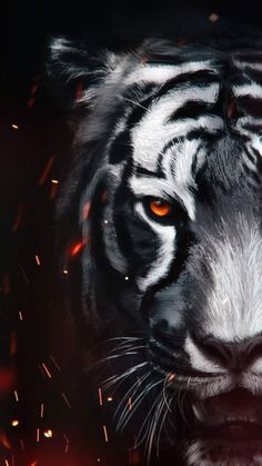 The Tiger art iPhone Wallpaper - iPhone Wallpapers