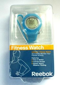 Reebok InShape Fitness Watch Blue Womens RB6173BL NEW #Reebok