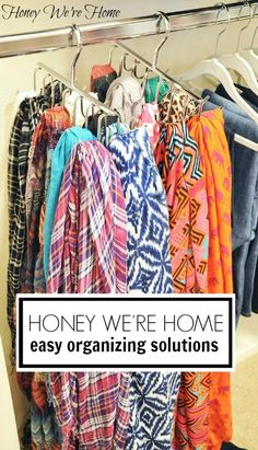 Honey We're Home: Home Organizing Solutions