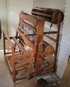 Beautiful old loom with double beam...Thirty years ago, we snubbed these older looms for the fancy name brands but today, I'd like to find a couple of these to have in my new studio...
