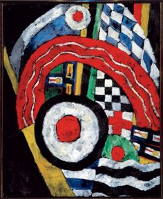 """""""Painting No. 46,"""" Marsden Hartley, 1914-1915, oil on canvas, 39 1/4 x 32"""", Albright-Knox Art Gallery."""
