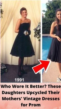 Who #Wore It Better? These #Daughters Upcycled Their Mothers' #Vintage Dresses for #Prom Bridal Dresses, Prom Dresses, Spring Dresses, Short Hair Cuts, Short Hair Styles, Online Shopping Fails, Makeup Transformation, Bridal Makeup, Bridal Nails