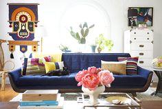 Blue couch! colour, colour, colour! sisalla: California '70s Style