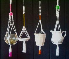 Mini Macrame Hangers  set of 3 by MonsMSTORE on Etsy, $27.00