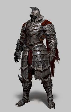 Fantasy Character Design, Character Inspiration, Character Art, Gladiator Characters, Lord Of War, Horror Artwork, Knight Armor, Fantasy Armor, Dark Lord
