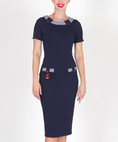 Love this Navy Deep Water Dress - Women & Plus on #zulily! #zulilyfinds