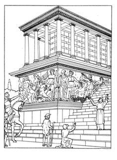 Great Altar Of Zeus At Pergamum  coloring page