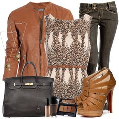 """Leopard / Animal Print shell belted top ~ """"Michel'le ~ Something In My Heart"""" by brickhouse1982 on Polyvore"""