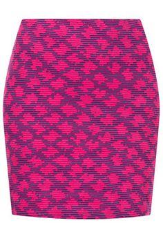 Here I come Top Shop! Pink Jacquard Mini Skirt