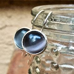 Labradorite Bronze Hammered Circle Choker Necklace Eternity Handmade in California Blue Gray Gemstone Boho Wire-Wrapped Pendant