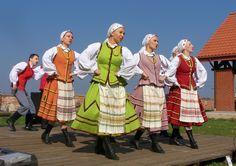 Folk costumes from Warmia region, Poland.