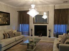 Cascade chandelier in living room - from Designer Chandelier