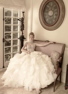 What a #beautiful and #romantic #StPucchiCouture #weddingdress from the 2014 St Pucchi Couture collection!