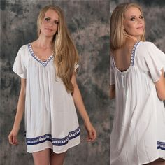 Tahiti Tunic Dress Amazing tunic dress! Can be worn many different ways!! As a cover up dress or with jeans! 60% Cotton 40% Polyester. Many sizes available. Please contact me for your own listing! LewBoutiqueTwo Dresses