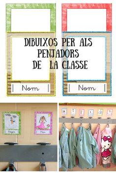 Labels for school coat hooks Classroom Displays, Classroom Organization, Classroom Decor, 1st Day Of School, Primary School, Back To School, 5th Grade Classroom, Printable Labels, Printables