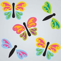 GelWonder | Window Clings | Large Bag of Flutterings | Butterflies | Can be used on any non-porous surface | www.homearama.co.uk