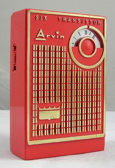 images of 1960s transistor radios | Arvin 6 Transistor Radio, 1960's