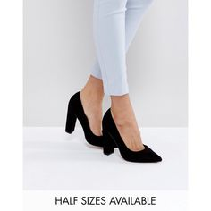 ASOS PHANTOM High Heels (74 BAM) ❤ liked on Polyvore featuring shoes, pumps, black, black pumps, pointed toe pumps, black shoes, high heeled footwear and black high heel pumps