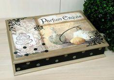 ---- Caixa MDF para bijoux com pintura e decoupage ---- Fazemos em outras cores e modelos. Peças integrantes estão sujeitas à disponibilidade. Como é um produto artesanal, podem haver pequenas diferenças entre uma produção e outra. R$ 62,79
