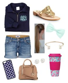 """""""Preppy girl tag!!"""" by annahbirch ❤ liked on Polyvore featuring Paige Denim, Jack Rogers, Accessorize, Jeweliq, Blue Nile, Lilly Pulitzer, CellPowerCases and MICHAEL Michael Kors"""
