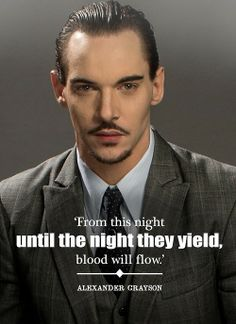 "#NBCDracula  Alexander  ""From this night until the night they yield, blood will flow. Alexander Grayson"""