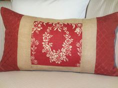 Toile and Burlap Pillow Cover Lumbar Pillow by ComfortsofHomeDecor, $38.00
