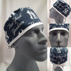 New York Yankees Surgical Scrub Cap by scrubcapsbyjuless on Etsy f5bcc7d32f94
