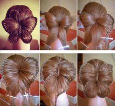 Genius...beautiful butterfly braided hair