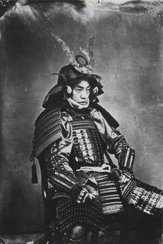 Ein Daimio in Kriegsrüstung '. About 1870.