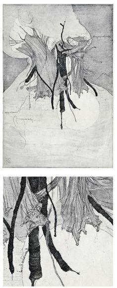 gravuras para contos de Edgar Allan Poe do Simon Prades