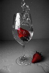 Strawberry // Black & White