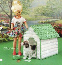 """DOG HOUSE""~Plastic Canvas PATTERN for BARBIE FASHION DOLLL"