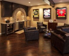 A simple way to decorate the game room  Basement Decorating IdeasBasement   My man cave  Redskins room   redskins I like the molding idea  . Basement Ideas For Men. Home Design Ideas
