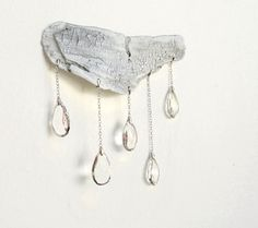Driftwood Cloud with Crystal Raindrops
