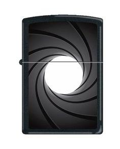 """ZippoCollectibles » Zippo """"Gun Barrel"""" Black Matte Lighter, 0205"""