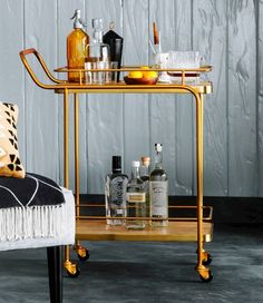 A well-stocked bar cart is an adult must-have.