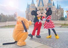 東京ディズニーリゾート、東京ディズニーランド、シンデレラ城、ミッキー、ミニー、プルート、