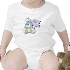 Happy Easter Cartoon Bunny Baby Bodysuit #zazzle #easter #baby #bodysuit #onesie #babytees