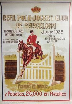 Barcelona CSIO Historical Posters via @The Chronicle of the Horse