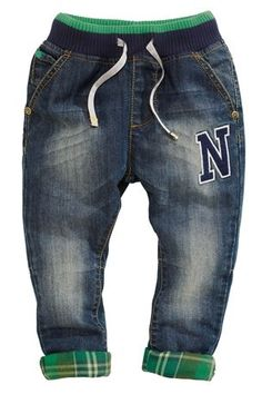 Buy Rib Waist Badge Jeans (3mths-6yrs) from the Next UK online shop