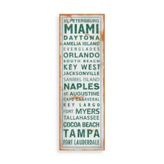 Florida Places Wall Art White/Green - BedBathandBeyond.com