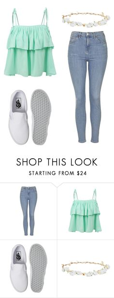 """26 April"" by llondonslove on Polyvore featuring moda, Topshop, LE3NO, Vans i Robert Rose"