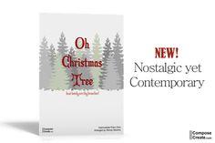 ComposeCreate.com Oh Christmas Tree - New intermediate piano sheet music